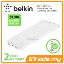 Belkin Boost Charger Power Bank 10K White Lightning Connector Apple iPhone iPad