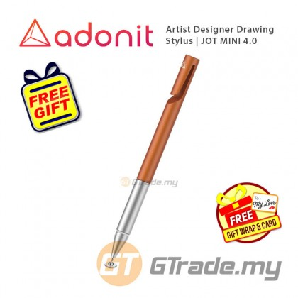 ADONIT Jot Mini 4 Stylus Pen Orange Apple iPad Air Pro Mini 4 5 6  +Free Gift