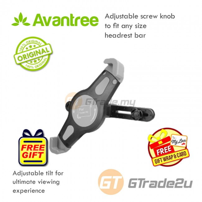 "Avantree Car Headrest Tablet Holder Spider iPad Galaxy Tab 7"" - 10.1"" *Free Gift+Shipping"