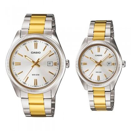 CASIO STANDARD MTP-1302SG-7AV & LTP-1302SG-7AV Analog Couple Watch