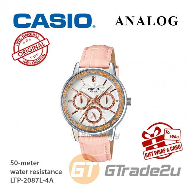 CASIO Women Ladies LTP-2087L-4A Analog Watch Jam Tangan Wanita [PRE]