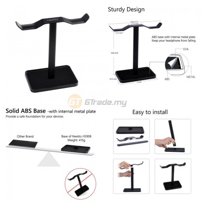 AVANTREE Double Headset Headphone Stand Holder HS908 *Free Gift+Shipping