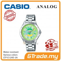 Casio Women Ladies LTP-E129D-3A Analog Watch Jam Tangan Wanita