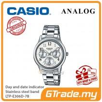 Casio Women Ladies LTP-E306D-7B Analog Watch Jam Tangan Wanita