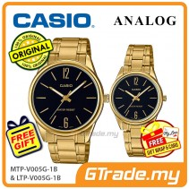 Casio Couple MTP-V005G-1B & LTP-V005G-1B Analog Watches Jam Tangan Pasangan