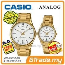 Casio Couple MTP-V005G-7B & LTP-V005G-7B Analog Watches Jam Tangan Pasangan