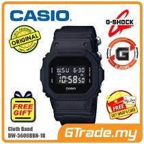 [G-ZONE] CASIO G-SHOCK DW-5600BBN-1D Digital Watch | Matte Black Cordura Band