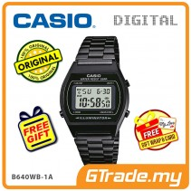 [READY STOCK] CASIO DIGITAL B640WB-1AV Men/Ladies Digital Watch | Retro Black Tone