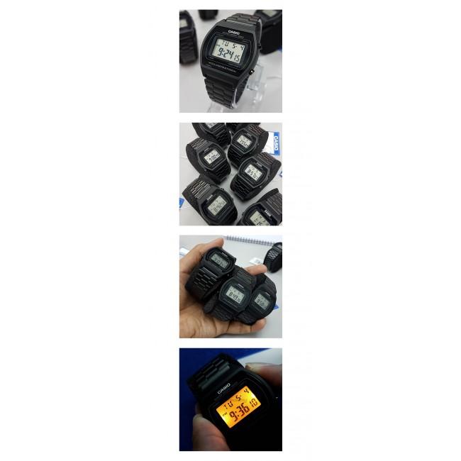 [READY STOCK] CASIO DIGITAL B640WB-1AV Men/Ladies Digital Watch | Retro Black Tone