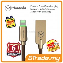Mcdodo Auto Disconnect Cable Lightning CA390 Gold Apple iPhone iPad *Free Gift