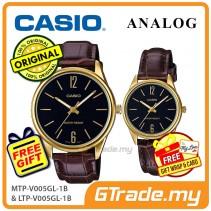 Casio Couple MTP-V005GL-1B & LTP-V005GL-1B Analog Watches Jam Tangan Pasangan [PRE]