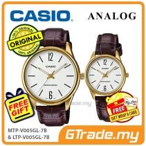 Casio Couple MTP-V005GL-7B & LTP-V005GL-7B Analog Watches Jam Tangan Pasangan [PRE]