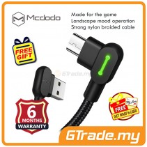 Mcdodo 90' LED Light 1.2M Micro USB Gaming Charger Cable Black *Free Gift