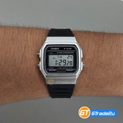 [READY STOCK] CASIO STANDARD F-91WM-7A Digital Watch | Classic Since 1991 Calendar