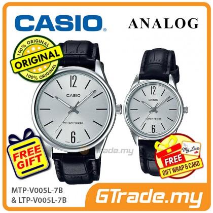 Casio Couple MTP-V005L-7B & LTP-V005L-7B Analog Watches Jam Tangan Pasangan