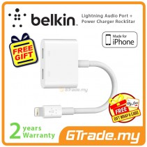 Belkin Lightning Audio Port + Power Charger RockStar iPhone Xs Max X Xr 8 Plus *Free Gift