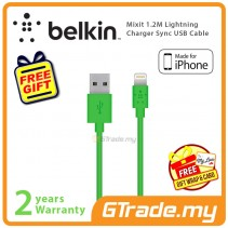 Belkin Mixit 1.2M Lightning Charger Sync USB Cable Green Apple iPhone iPad  *Free Gift