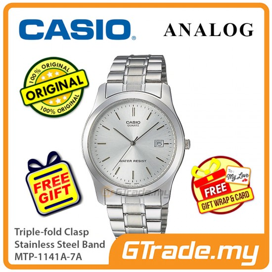 Casio Men MTP-1141A-7A Analog Watch Jam Tangan Analog Lelaki  [PRE]