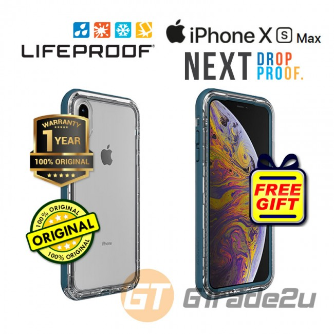 Lifeproof Next Shield Case Apple Iphone Xs Max Clear Lake *Free Gift