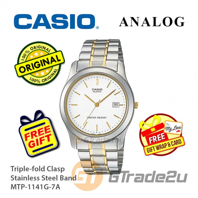 Casio Men MTP-1141G-7A Analog Watch Jam Tangan Analog Lelaki  [PRE]