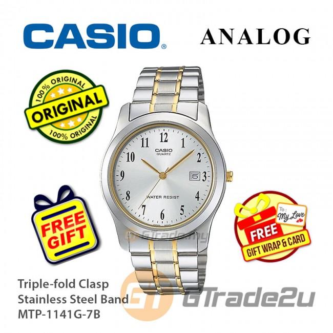 Casio Men MTP-1141G-7B Analog Watch Jam Tangan Analog Lelaki  [PRE]