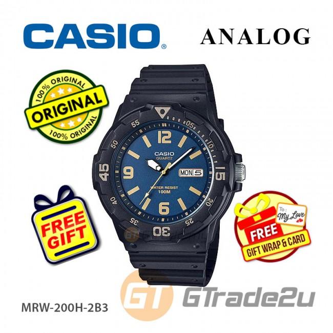 [READY STOCK] CASIO STANDARD MRW-200H-2B3V Analog Mens Watch | Day Date Display
