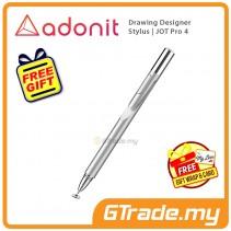 Adonit Jot Pro 4 Drawing Designer Stylus Pen Silver iPhone Xs Max X iPad