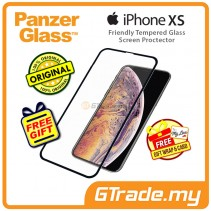 PanzerGlass Case Friendly Tempered Glass Screen Proctector Jet Black Apple iPhone Xs X *Free Gift