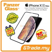 PanzerGlass Case Friendly Tempered Glass Screen Proctector Jet Black Apple iPhone Xs Max *Free Gift