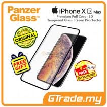 PanzerGlass Premium Full Cover 3D Tempered Glass Screen Proctector Apple iPhone Xs Max *Free Gift