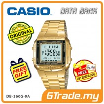 [READY STOCK] CASIO DATA BANK DB-360G-9A Digital Watch | 30 Telememo 10 Yrs Batt.