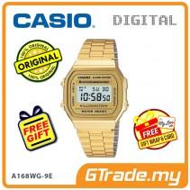 CASIO STANDARD A168WG-9E Digital Watch | Vintage Alarm Auto Calendar