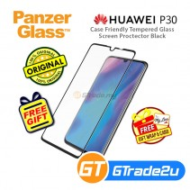 PanzerGlass Case Friendly Tempered Glass Screen Protector Black Huawei P30 *Free Gift