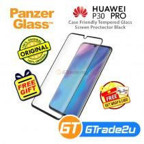 PanzerGlass Case Friendly Tempered Glass Screen Proctector Black Huawei P30 Pro *Free Gift
