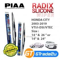 "Honda City 2003-2019 VTI/i-DSI/VTEC Piaa Radix Silicone Windshield Wiper Blade 14""- 26""/24"""