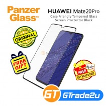 PanzerGlass Case Friendly Tempered Glass Screen Proctector Black Huawei Mate 20 Pro *Free Gift
