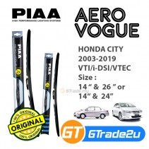 "Honda City 2003-2019 VTI/i-DSI/VTEC Piaa Aero Vogue Silicone Windshield Wiper Blade 14""-26""/24"""