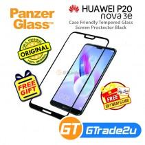 PanzerGlass Case Friendly Tempered Glass Screen Proctector Black Huawei P20 Lite Nova 3e *Free Gift