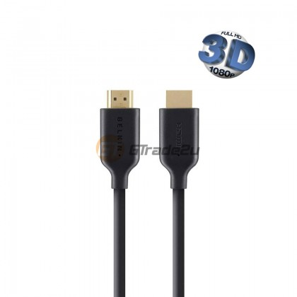 Belkin Gold-Plated High-Speed HDMI Cable 1M with Ethernet 4K/Ultra 3d Version 1.4 120Hz *Free Gift