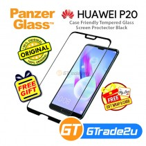 PanzerGlass Case Friendly Tempered Glass Screen Proctector Black Huawei P20 *Free Gift
