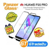 PanzerGlass Case Friendly Tempered Glass Screen Proctector Black Huawei P20 Pro *Free Gift