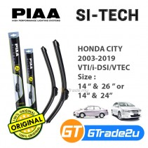 "Honda City 2003-2019 VTI/i-DSI/VTEC Piaa Si-Tech Silicone Windshield Wiper Blade 14""-26""/24"""