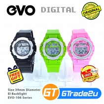 EVO-106 Kids Women Ladies Digital Watch Sport Jam Tangan Digital Budak Wanita [PRE]