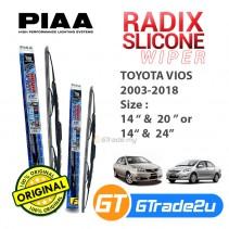 "Toyota Vios 2003-2018 Piaa Radix Silicone Windshield Wiper Blade 14""-20""/24"""