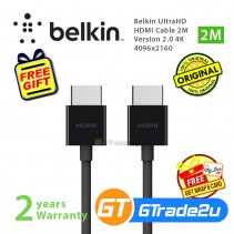 Belkin UltraHD HDMI Cable 2M Version 2.0 4K 4096x2160 18Gbps Speed 240Hz *Free Gift