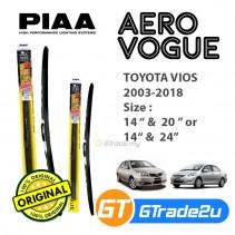 "Toyota Vios 2003-2018 Piaa Aero Vouge Silicone Windshield Wiper Blade 14""-20""/24"""
