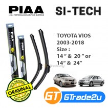 "Toyota Vios 2003-2018 Piaa Si-Tech Silicone Windshield Wiper Blade 14""-20""/24"""