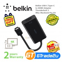 Belkin USB-C Type-C to HDMI Adapter Thunderbolt 3 iMac Macbook Pro Air  *Free Gift