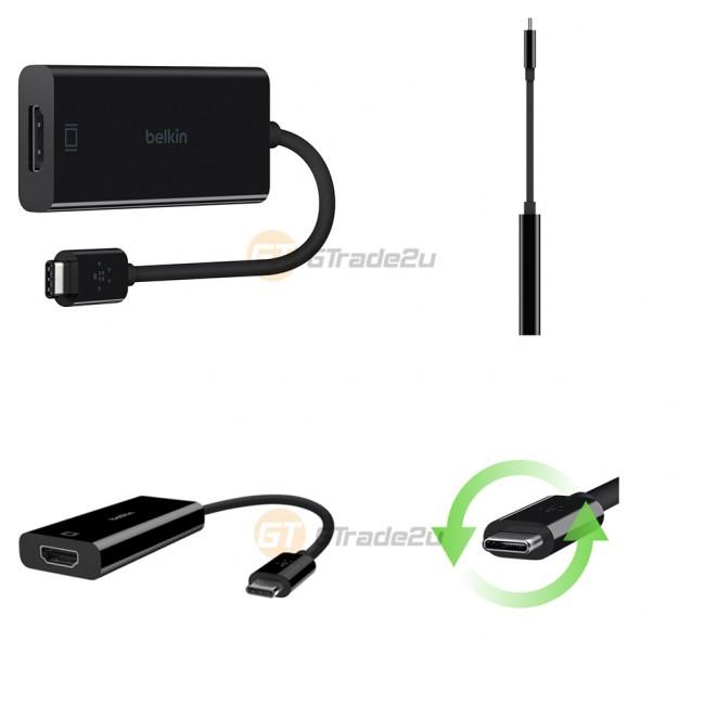 Belkin USB-C Type-C to HDMI Adapter Thunderbolt 3 iMac Macbook Pro Air  *Free Gift