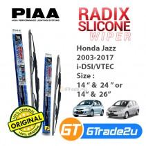 "Honda Jazz i-dsi Vtec 2003-2017 Piaa Radix Silicone Windshield Wiper Blade 14""-24""/26"""